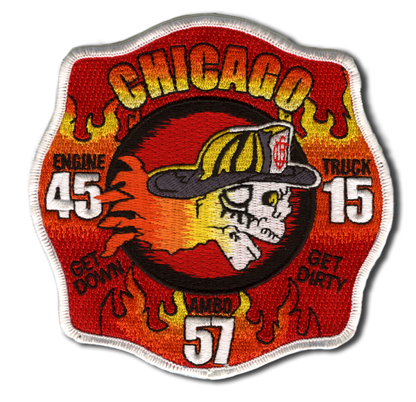 Chicago FD Engine 45 and Truck 15's patch
