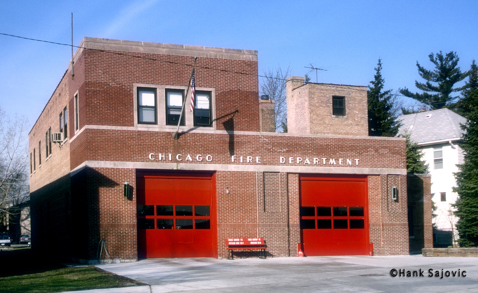 Chicago Fire Department Engine 119's house