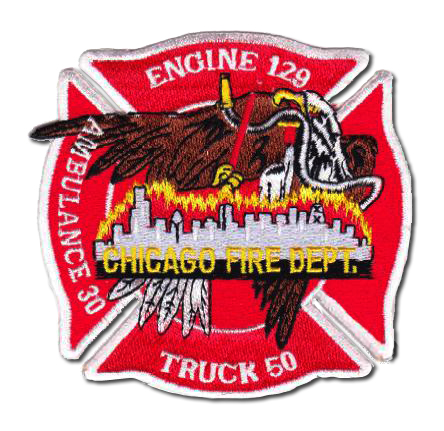 Chicago FD Engine 129 Truck 50 Ambulance 30 patch
