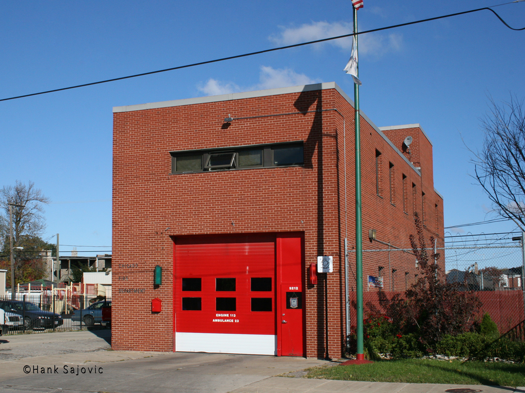 Chicago Fire Department Engine 113's house