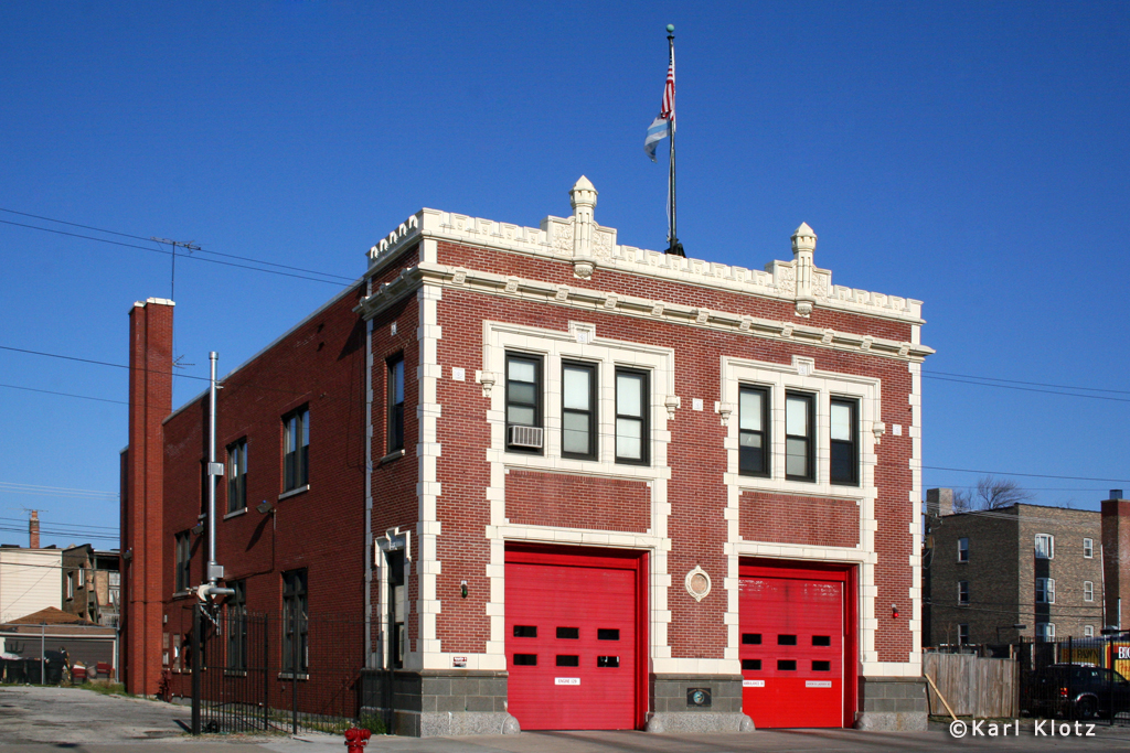 Chicago Fire Department Engine 129's house