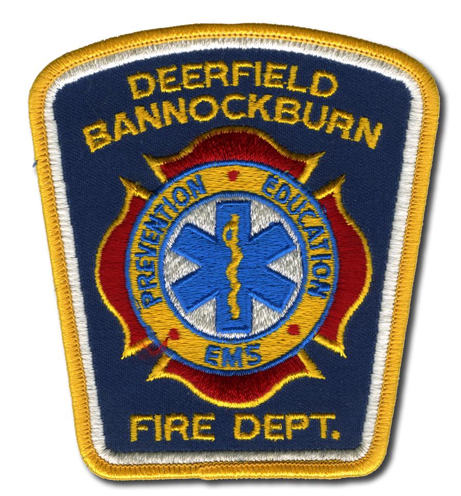Deerfield Bannockburn Fire Department patch